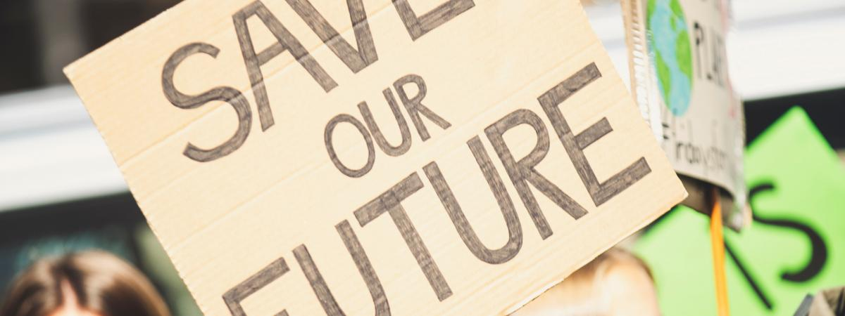 """Save our future"" poster"